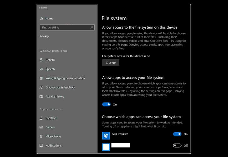 windows-app-settings